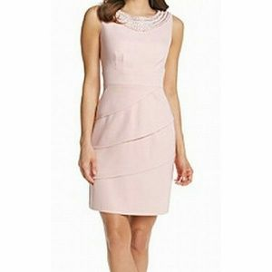 Nwt Plus Blush Pink Pearl Dress 24W Dressy Wedding